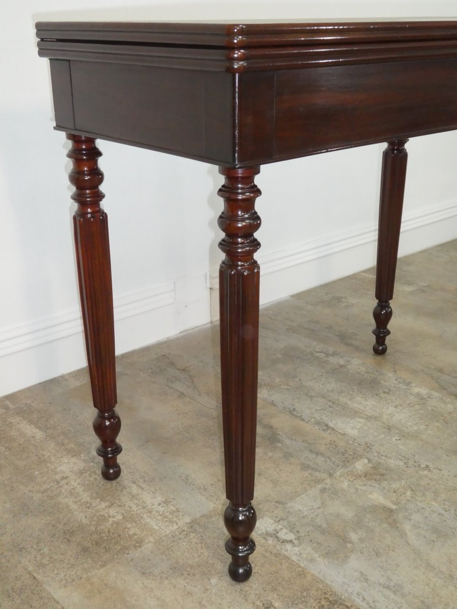 Louis Philippe Game Table In Mahogany 19th-photo-1