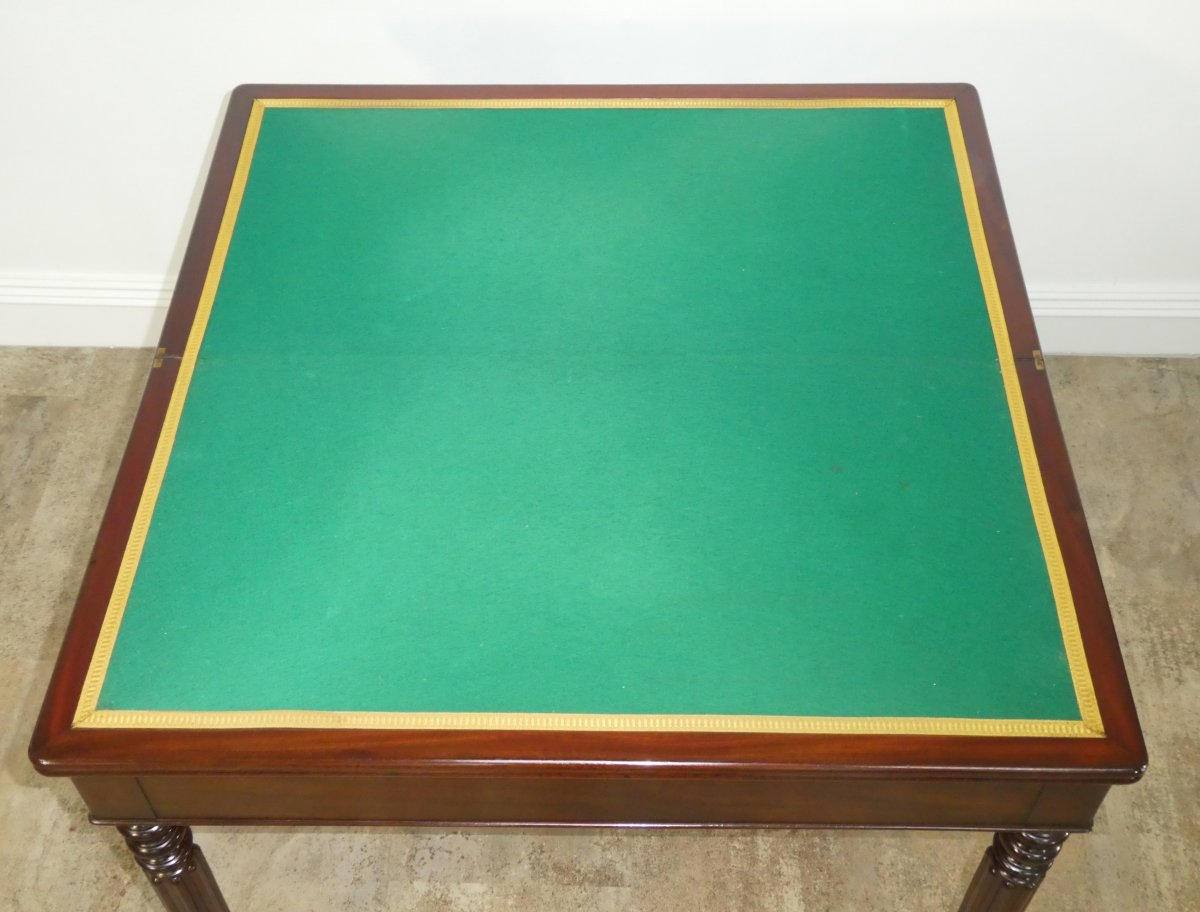 Louis Philippe Game Table In Mahogany 19th-photo-3