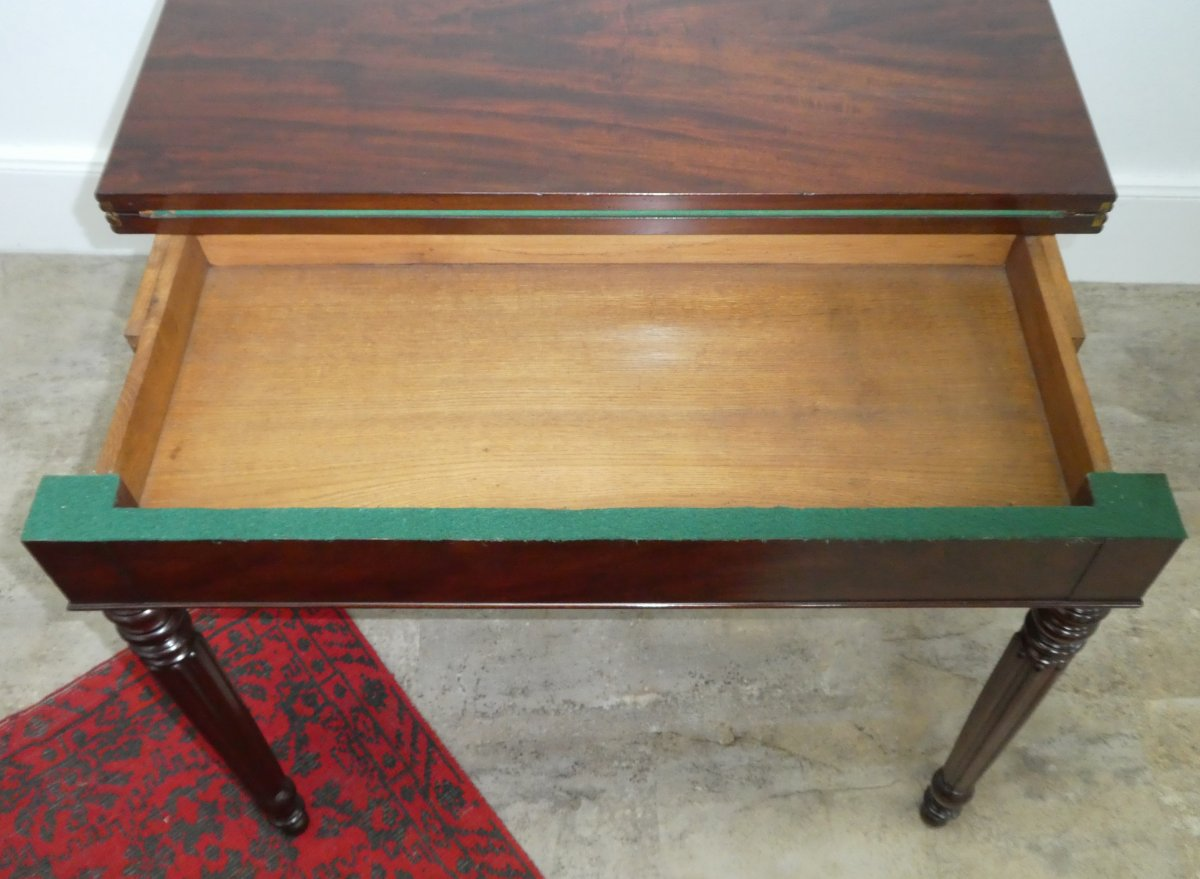Louis Philippe Game Table In Mahogany 19th-photo-4
