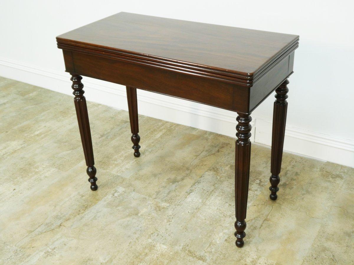 Table A Jeu Louis Philippe En Acajou 19eme