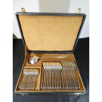 Menagere Boulenger Modele Louis XV En Metal Argenté