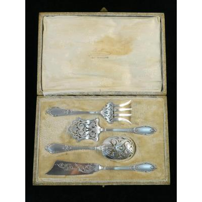 Pages Freres  Cutlery A Mignardises In Sterling Silver Early Twentieth