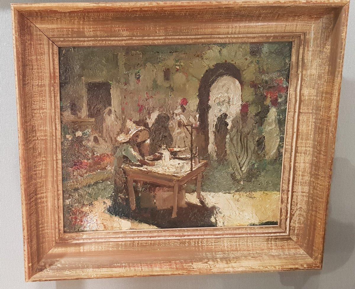 Orientalist Painting By Dick Van Driest