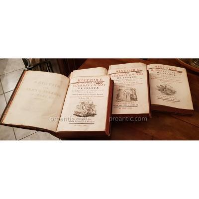 Livres Anciens Histoire De Guerres Civiles De France ( Davila)
