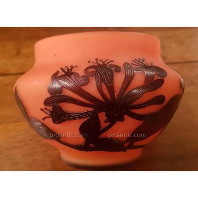 Vase Coupe Pâte De Verre Signé Delatte Nancy