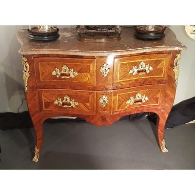 Louis XV Commode In Violet Wood