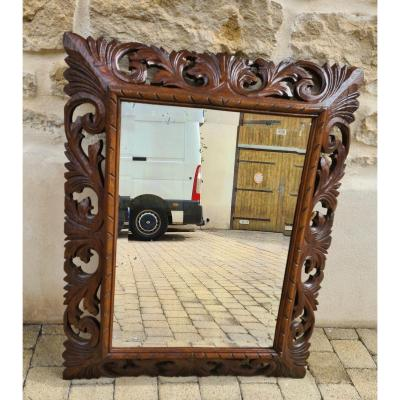 Miroir En Chêne Style Henry II