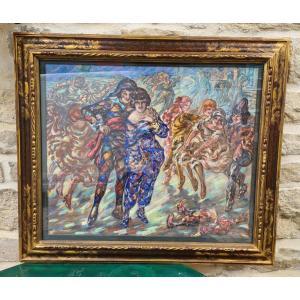 Tableau Pastel Adrien Godien 1873 - 1949