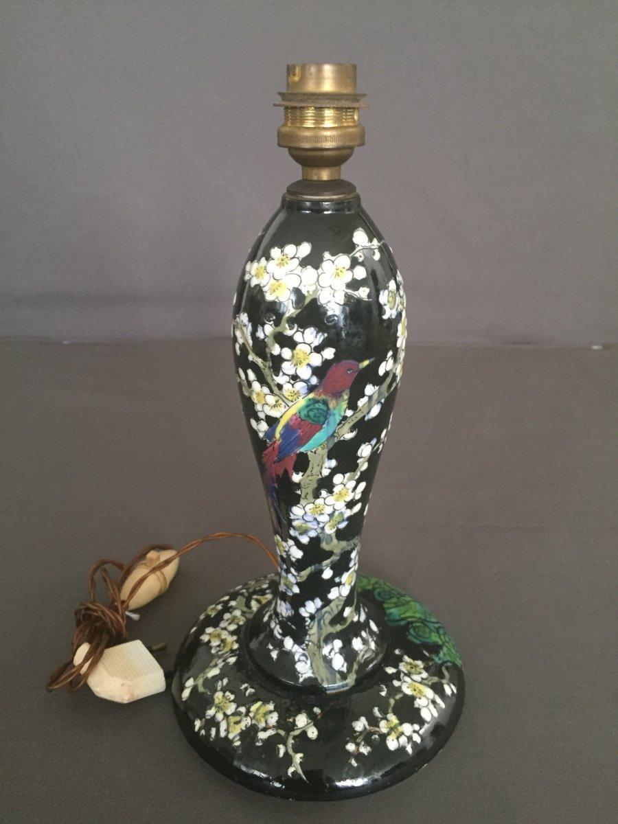 Japanese-inspired Porcelain Enamel Lamp