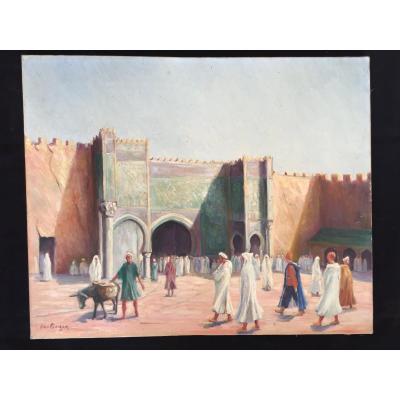 Table, Orientalist Painting Early Twentieth