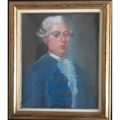 Pastel Of A Gentleman, Late 18th Century