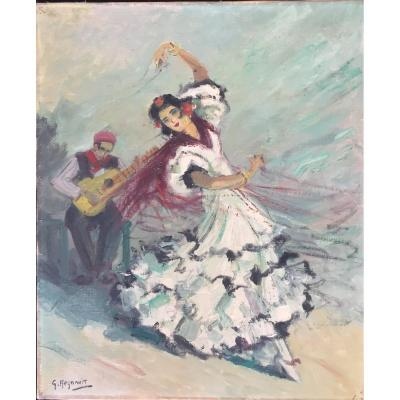Painting By G.regnault, Dancer Sévillane.