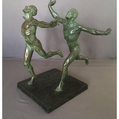 Guiraud-Rivière, bronze Art Déco