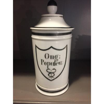 Pot à pharmacie en porcelaine XIX ème