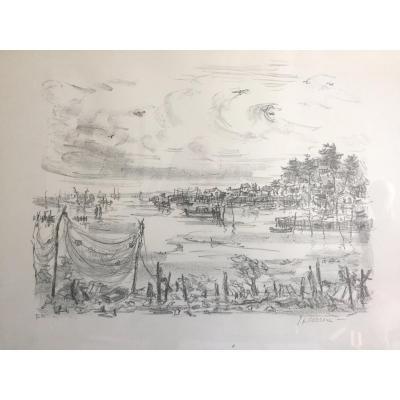 Vue du Bassin  d'Arcachon par Jean Gérard CARRERE