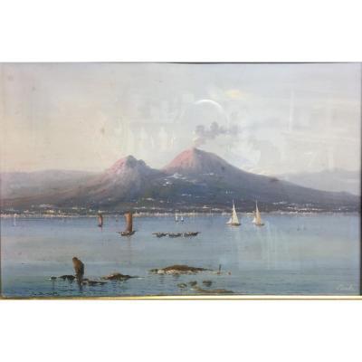 Neapolitan Gouache Signed Corelli XIX