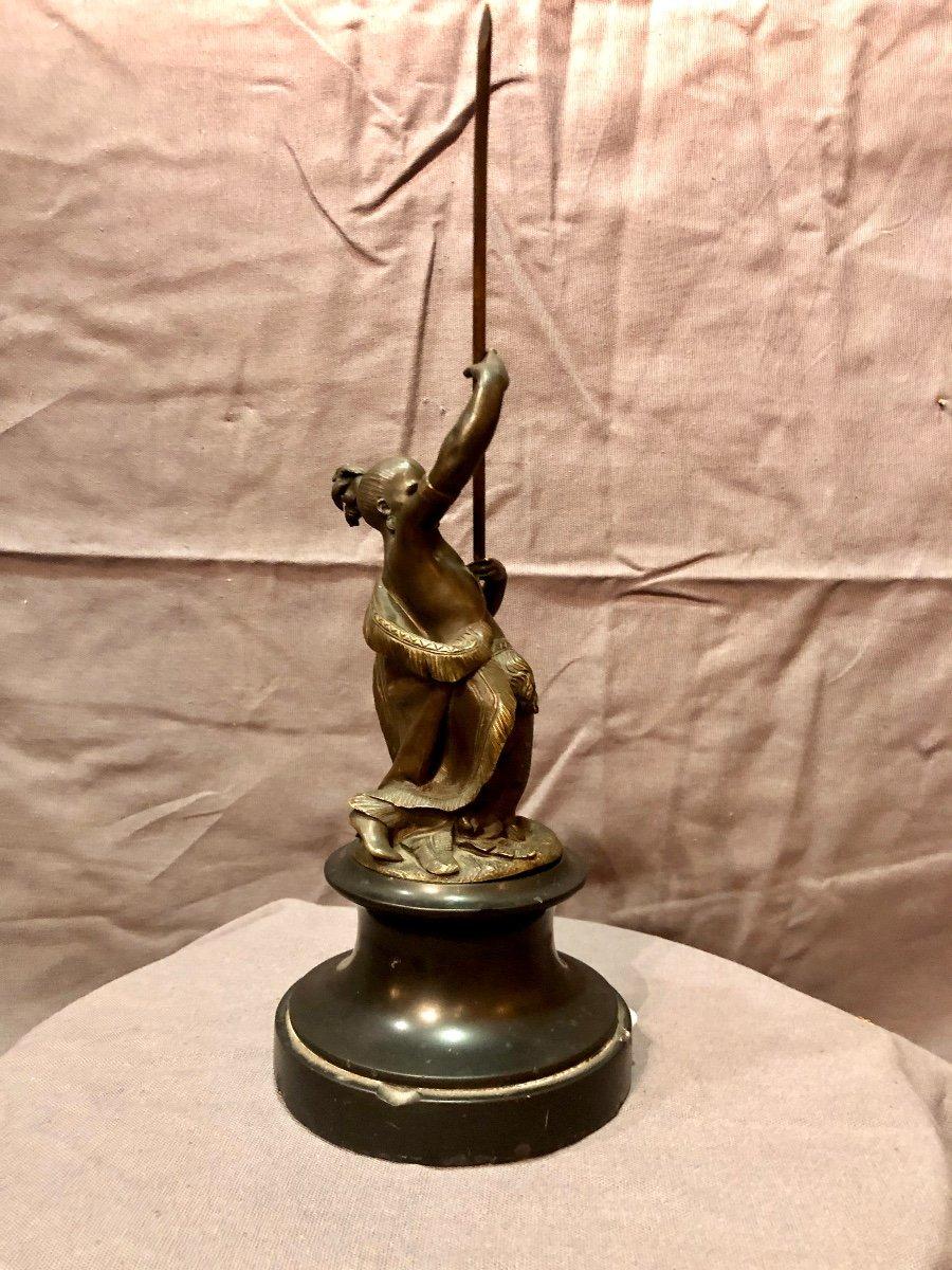 Bronze figurant un guerrier iroquois, XIXe siècle -photo-6