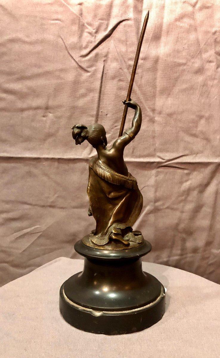 Bronze figurant un guerrier iroquois, XIXe siècle -photo-7