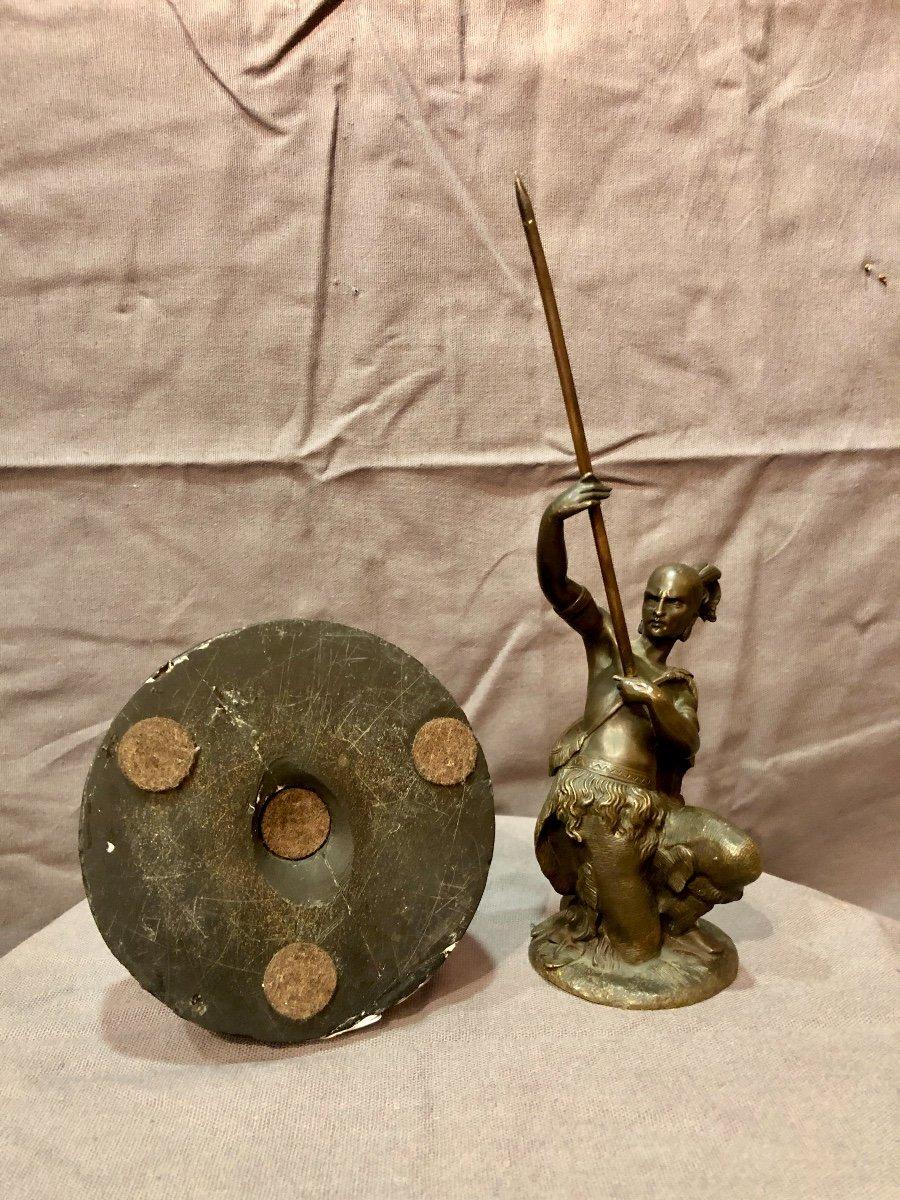 Bronze figurant un guerrier iroquois, XIXe siècle -photo-8