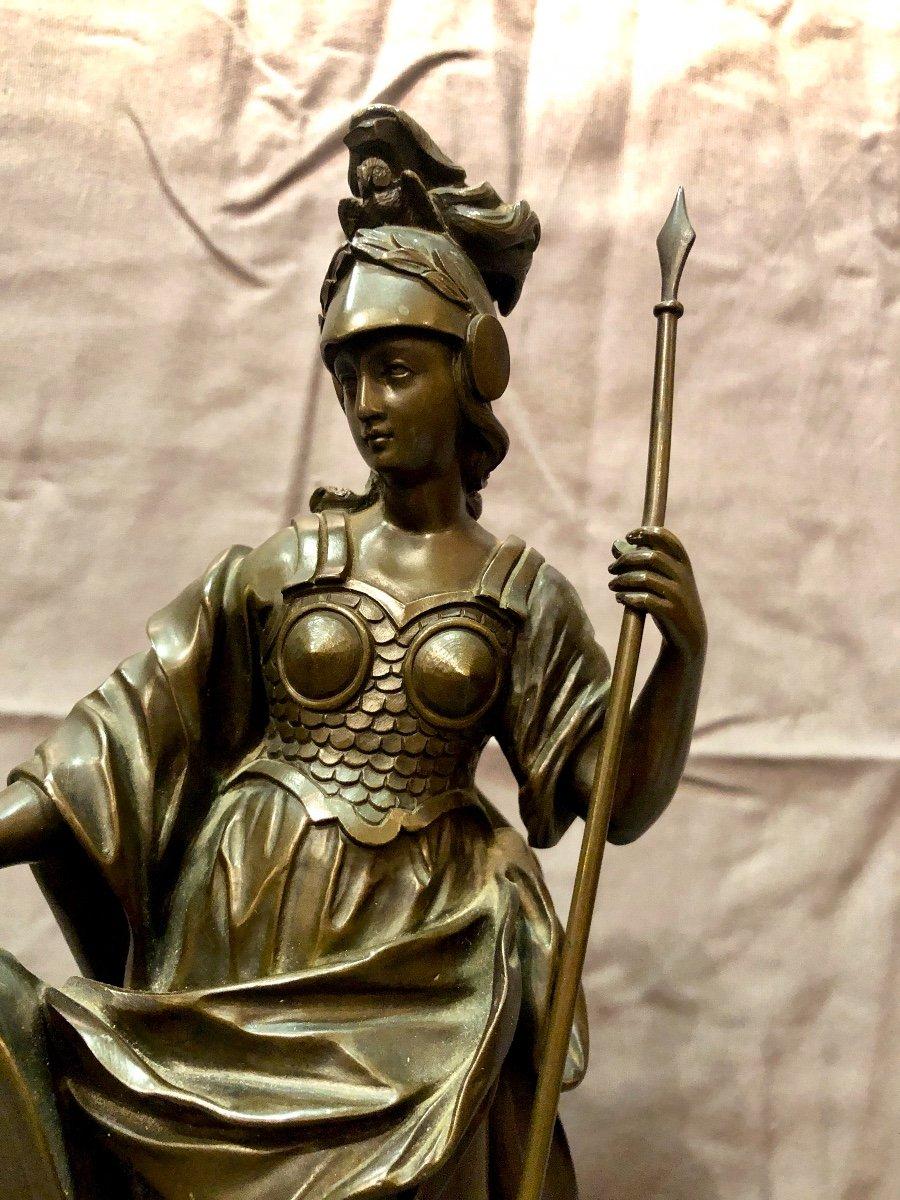 Bronze figurant Athéna en armes, XIXe siècle -photo-2