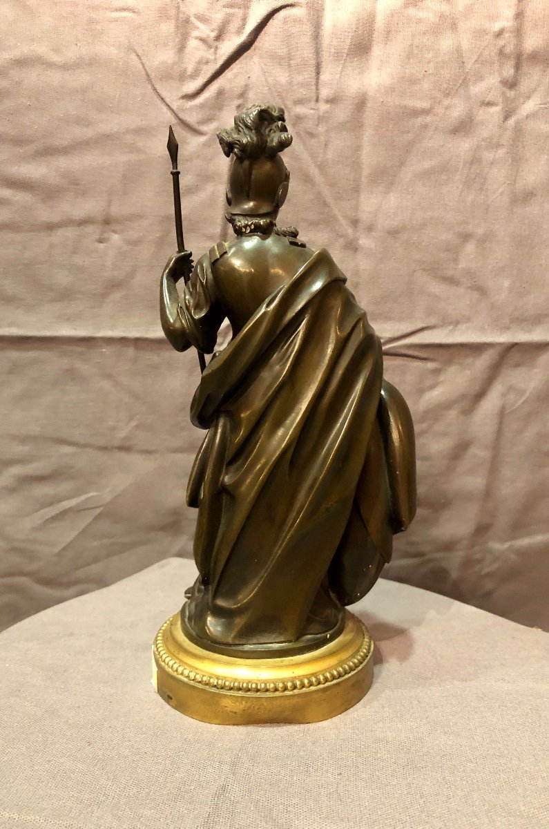 Bronze figurant Athéna en armes, XIXe siècle -photo-4