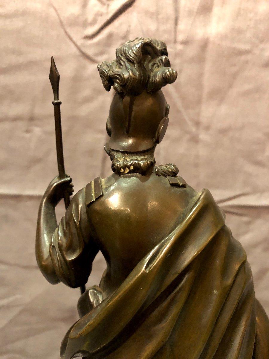 Bronze figurant Athéna en armes, XIXe siècle -photo-5