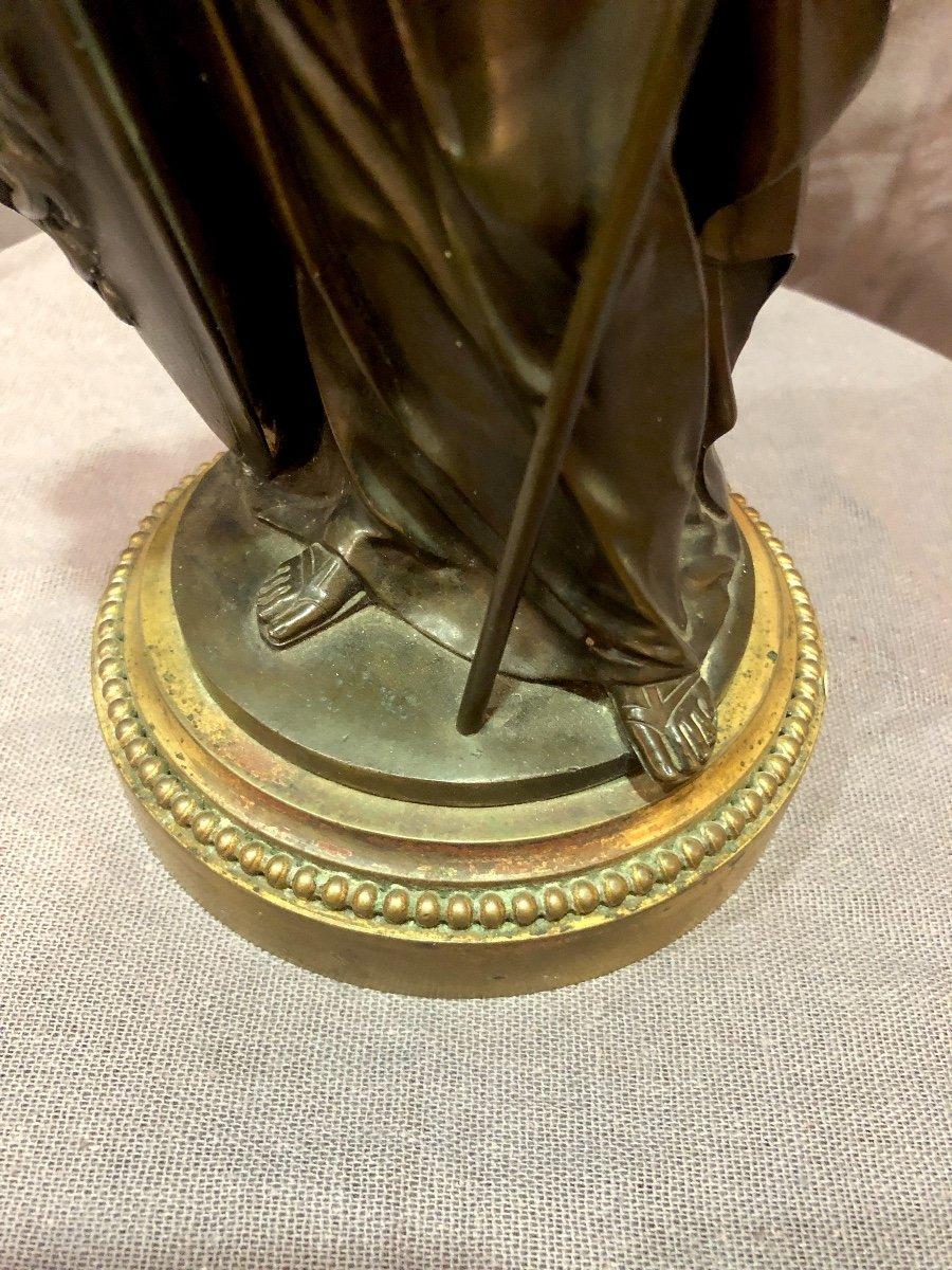 Bronze figurant Athéna en armes, XIXe siècle -photo-6