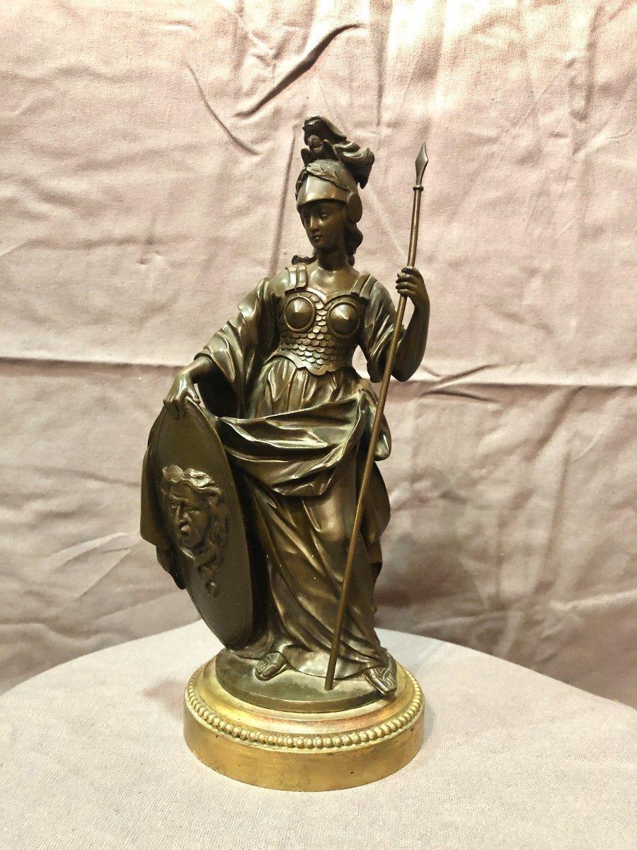Bronze figurant Athéna en armes, XIXe siècle