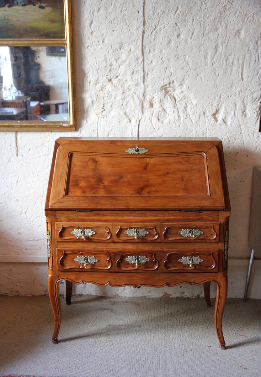 Scriban In Oak, System And Secret With Its Closure, Louis XV Period