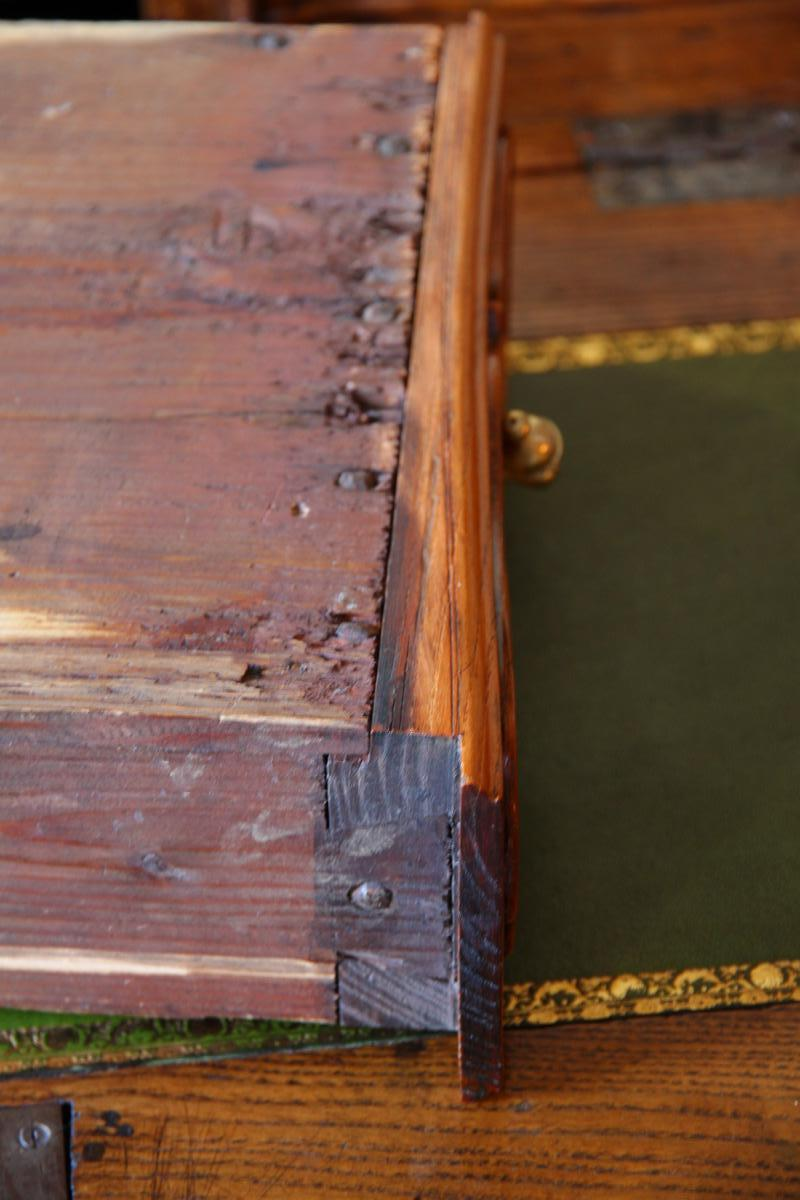 Scriban In Oak, System And Secret With Its Closure, Louis XV Period-photo-4