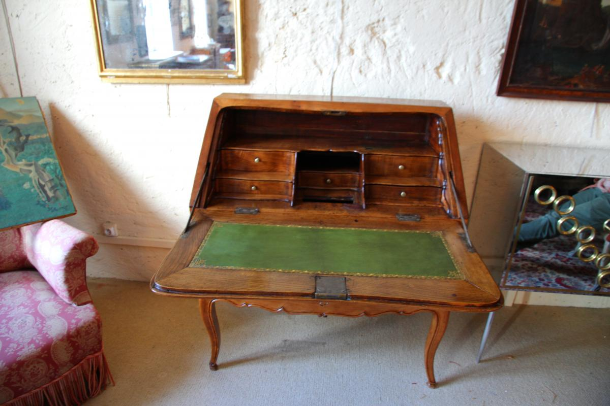 Scriban In Oak, System And Secret With Its Closure, Louis XV Period-photo-1
