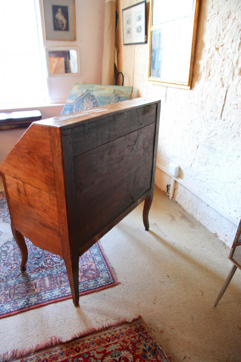 Scriban In Oak, System And Secret With Its Closure, Louis XV Period-photo-6