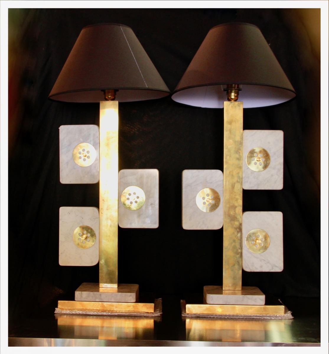 Paire De Lampes D'époque XXe Siècle