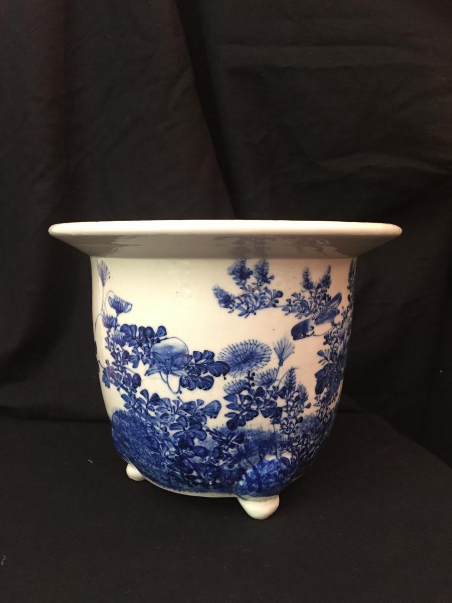 Jardinière / Pot De Fleur En Céramique Chinoise, Chine, Début XXe Siècle