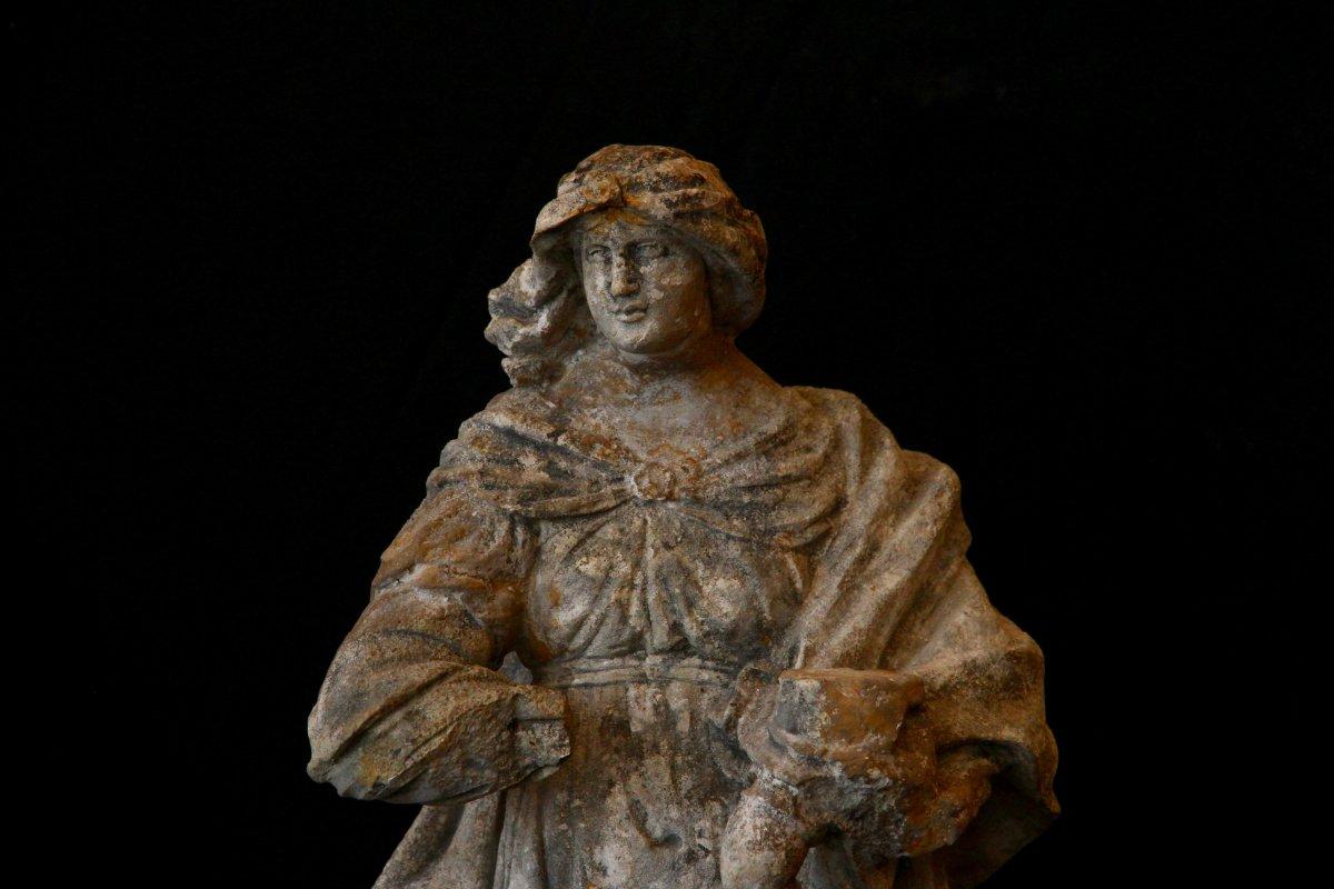 Sculpture En Pierre De Bourgogne D'époque Début XVIIe Siècle-photo-2