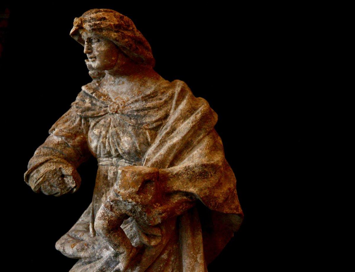 Sculpture En Pierre De Bourgogne D'époque Début XVIIe Siècle-photo-4