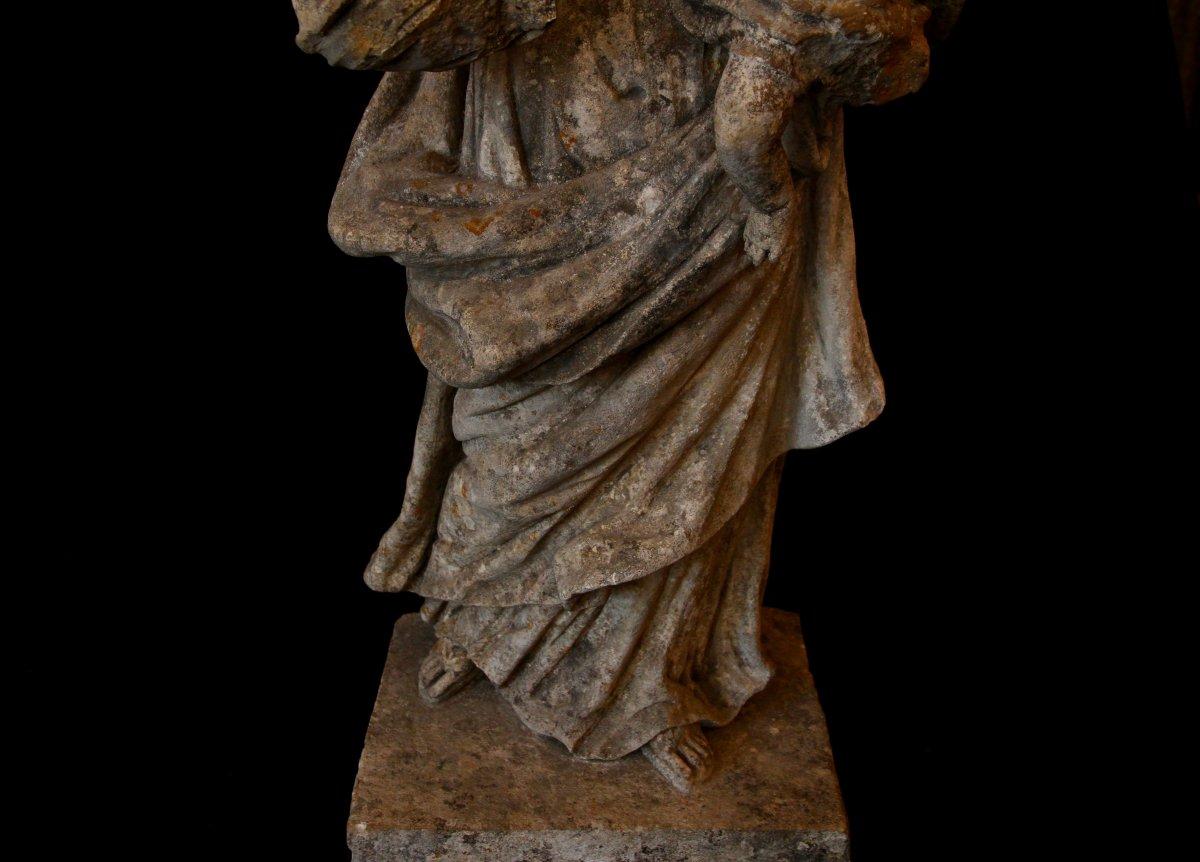 Sculpture En Pierre De Bourgogne D'époque Début XVIIe Siècle-photo-3