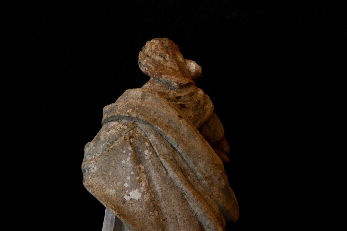Sculpture En Pierre De Bourgogne D'époque Début XVIIe Siècle-photo-5