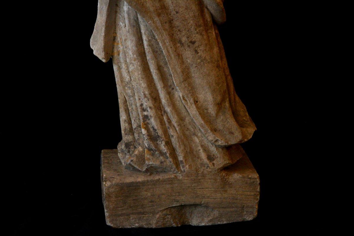 Sculpture En Pierre De Bourgogne D'époque Début XVIIe Siècle-photo-6