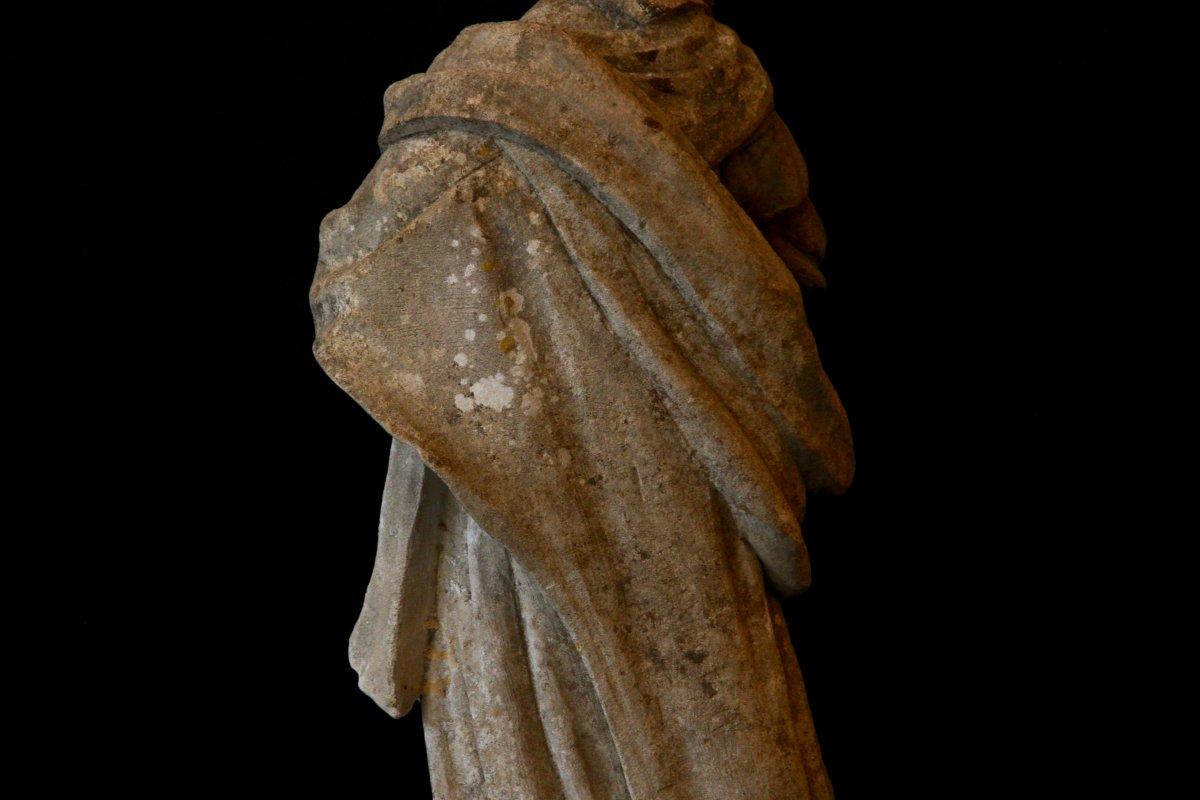 Sculpture En Pierre De Bourgogne D'époque Début XVIIe Siècle-photo-7