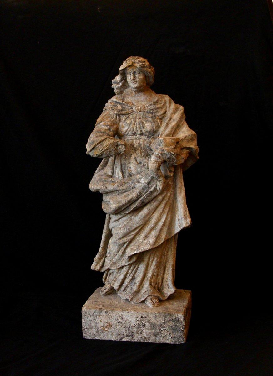 Sculpture En Pierre De Bourgogne D'époque Début XVIIe Siècle