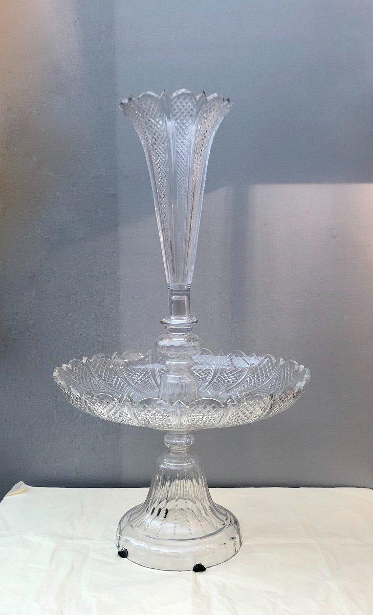 Centre De Table En Cristal Baccarat, XIXe Siècle