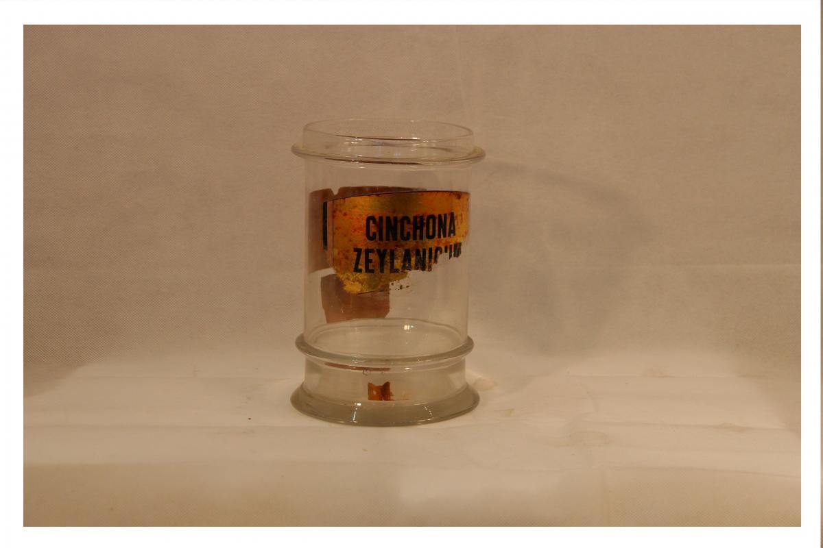Glass Pharmacy Card Late Nineteenth / Early Twentieth Century