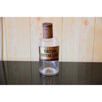 Flacon De Pharmacie « Erythroxylum Coca » (plante Utilisée Dans La Fabrication De La Cocaïne »,