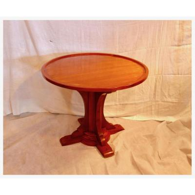 Boat Mahogany Table / Pedestal Table, XXth Century
