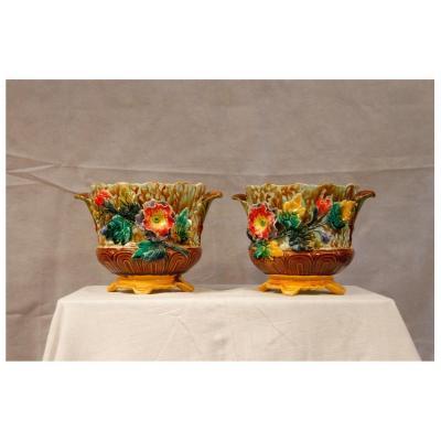 Pair Of Ceramic Pots, 20th Century