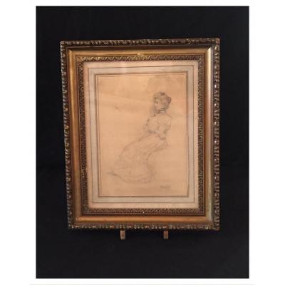 Drawing Signed «boldini», Giovanni Boldini (1842 - 1931), XIXth Century