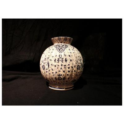Clamecy Earthenware Vase, 19th Century