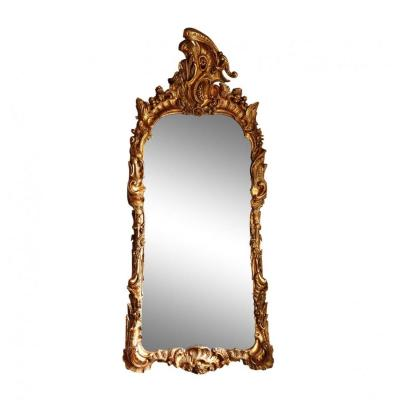 Louis XV French Mirror In Gilded Wood, 18th Century