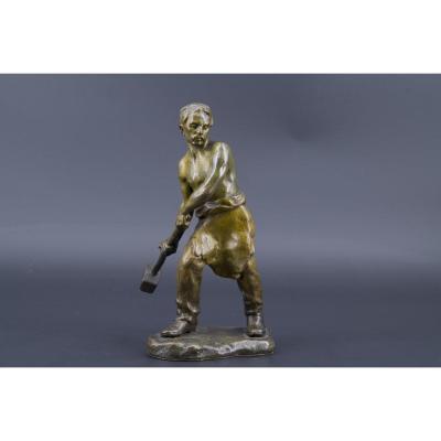 Bronze Depicting A Worker, Andor Ruff (1885 - 1951)